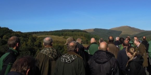 Delegates enjoyed clear views of the Dyfi catchment area 580x290