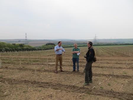 Owner Hugh Davis and judges discuss Treworder Barton plantings WEB