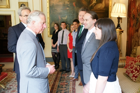 Russell meets the Prince of Wales