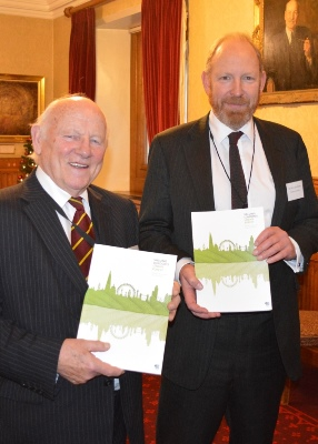 Lord Framlingham and Sir Harry Studholme with i-Tree report - web